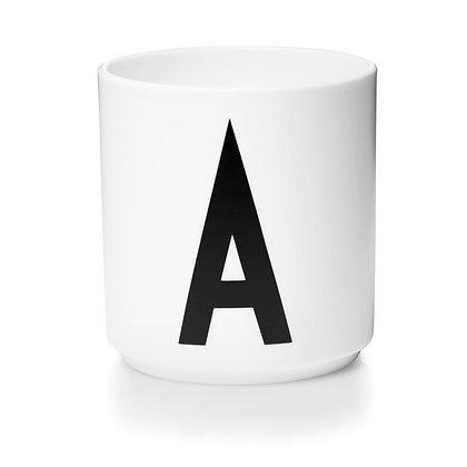 Design Letters - AJ Porzellan Becher weiß A