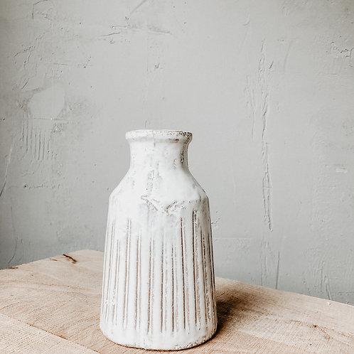 Keramik Vase Rille