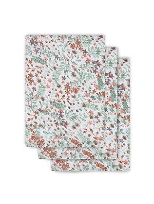 JOLLEIN Mull Waschlappen Bloom - 3er Set