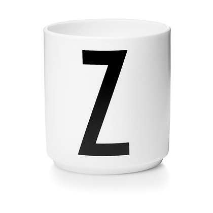 Design Letters - AJ Porzellan Becher weiß Z