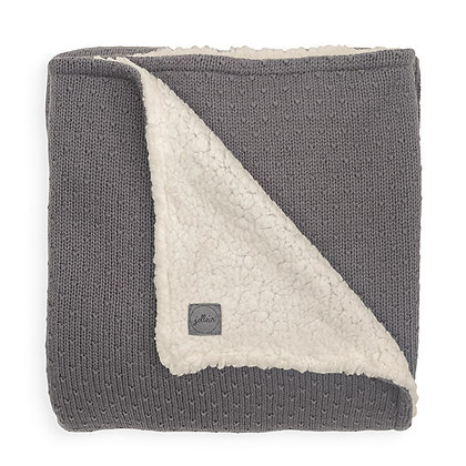 Strickdecke Teddy Bliss Knit storm grey - 75x100cm