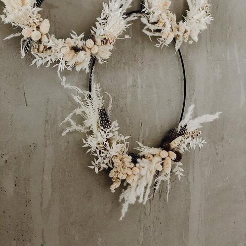 DIY Kit schwarz - Dryed Flower Hoop