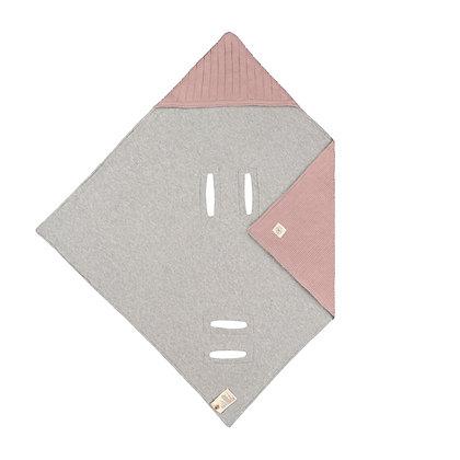 Babystrickdecke für Babyschale dusky pink - 78 x 78cm