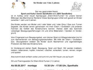 Eltern - Kind - Turnen ab 08.Mai beim SKV