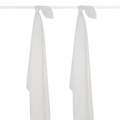 JOLLEIN Mullwindel weiß - 115x115cm - 2er Set