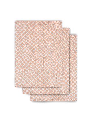 JOLLEIN Mull Waschlappen Snake pale pink - 3er Set
