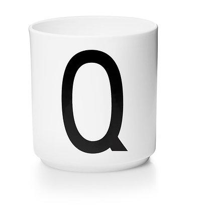 Design Letters - AJ Porzellan Becher weiß Q
