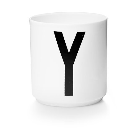 Design Letters - AJ Porzellan Becher weiß Y