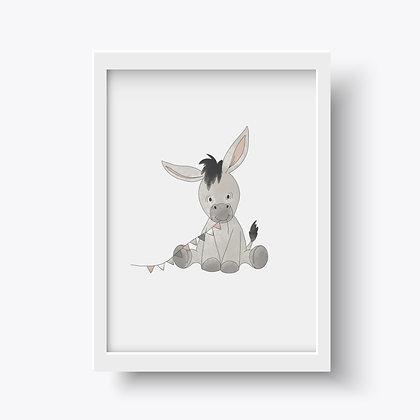 Posterprint Esel - happyful Kids