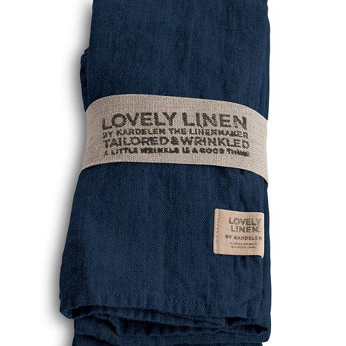 4er Set Leinenserviette Lovely Linen - Lovely Midnight Blue