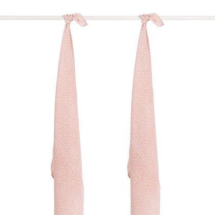 JOLLEIN Mullwindel large Snake pale pink - 115x115cm  - 2er Set