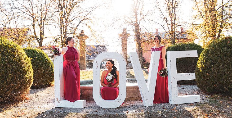 LOVE Holz-Buchstaben
