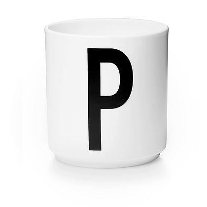 Design Letters - AJ Porzellan Becher weiß P