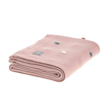 Babystrickdecke Dots dusky pink - 80 x 110cm