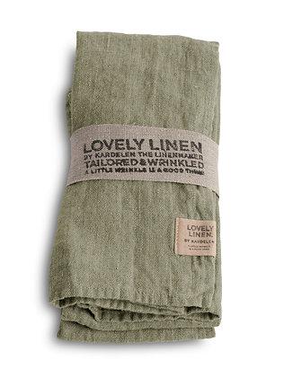 Leinenserviette Lovely Linen - Lovely Avocado - 4er Set
