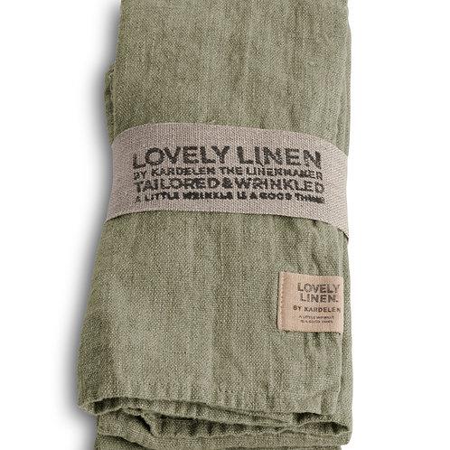 4er Set Leinenserviette Lovely Linen - Lovely Avocado