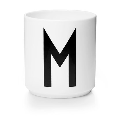 Design Letters - AJ Porzellan Becher weiß M
