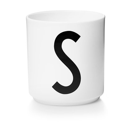 Design Letters - AJ Porzellan Becher weiß S