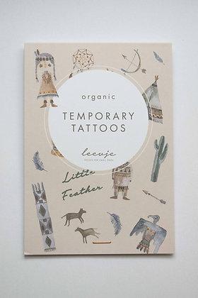Organic Temporary Tattoos Kleine Feder