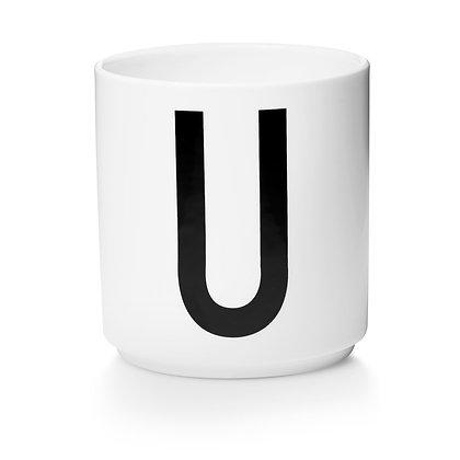 Design Letters - AJ Porzellan Becher weiß U