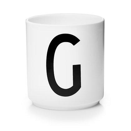 Design Letters - AJ Porzellan Becher weiß G