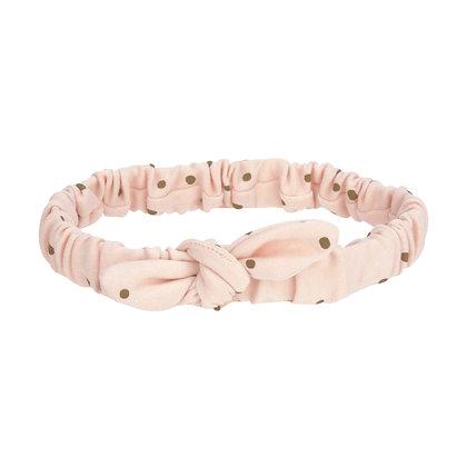 Stirnband Dots powder pink