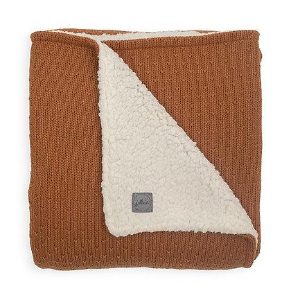 Strickdecke Teddy Bliss Knit caramel - 75x100cm