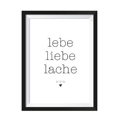 Poster lebe-liebe-lache