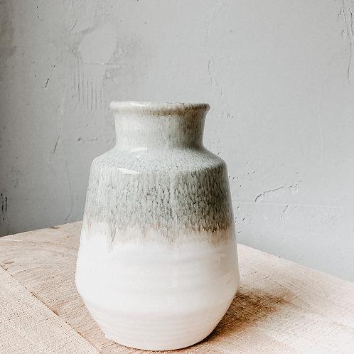 Porzellan Vase Natural-Olive