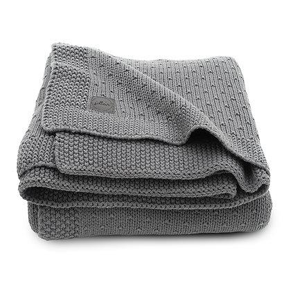 JOLLEIN Strickdecke Bliss Knit storm grey - 75x100cm