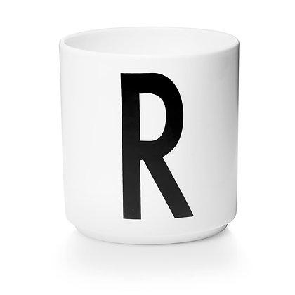 Design Letters - AJ Porzellan Becher weiß R