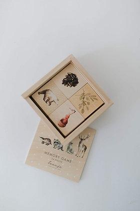 """LEEVJE Memory """"Waldtiere"""" aus nachhaltigem Holz"""