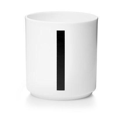 Design Letters - AJ Porzellan Becher weiß I