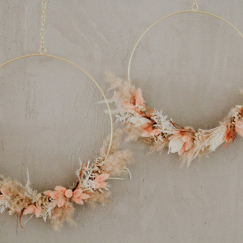 Flower Hoop - DIY Kit - gold 35cm