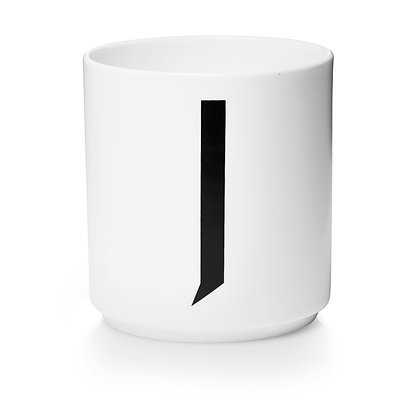 Design Letters - AJ Porzellan Becher weiß J