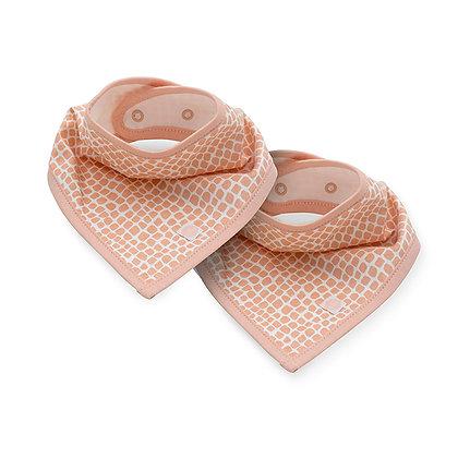 JOLLEIN Bandana Halstuch pale pink - 2er Set