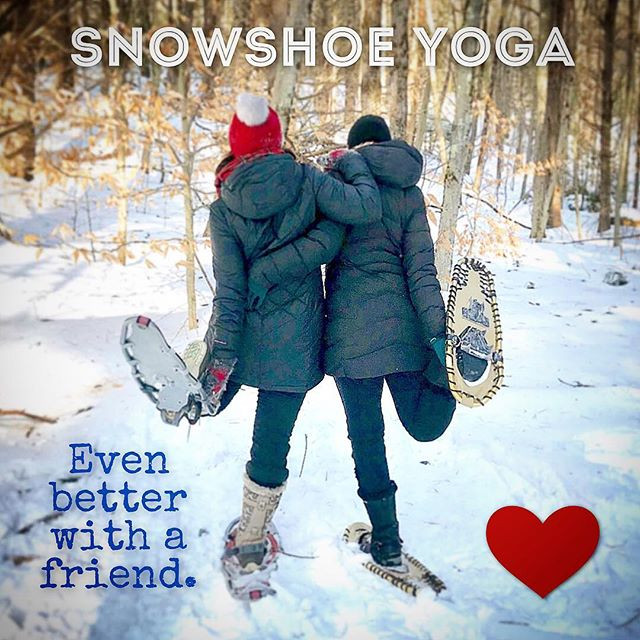 Snowshoe Yoga in Bow, NH