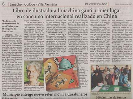 Joanna Mora de Limache gana primer lugar en premio mundial categoría ilustración