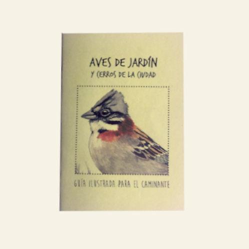 Aves de jardín y de cerros de la ciudad. Guía ilustrada   Claudia Ortiz
