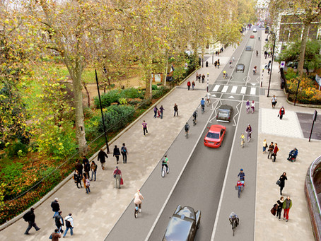 Reallocate road space for safer travel