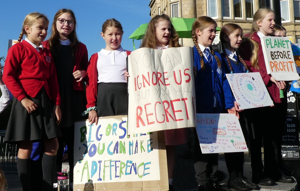School children protesting