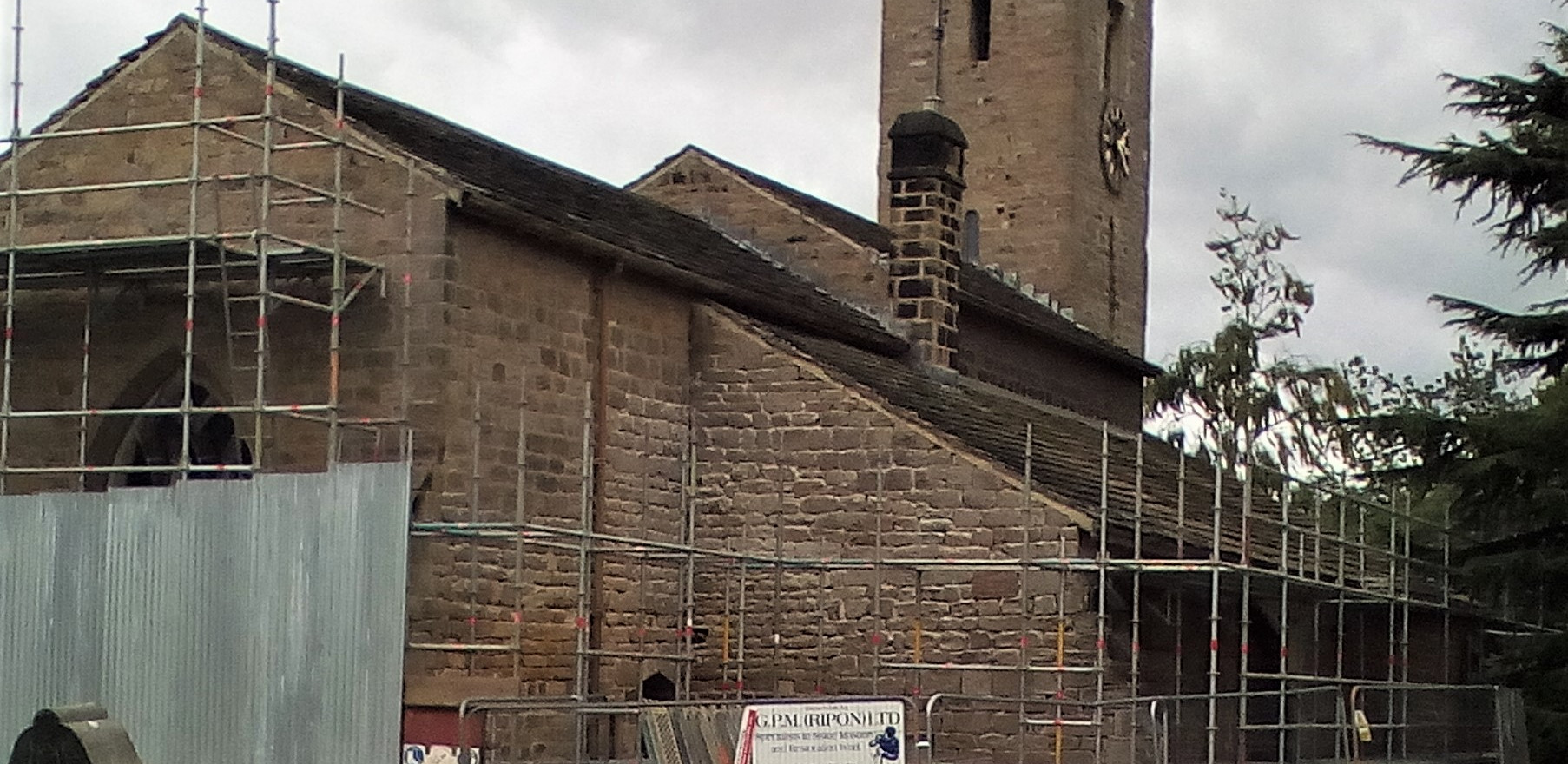 Scaffolding at All Hallows