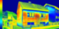 Infrared thermovision image showing lack
