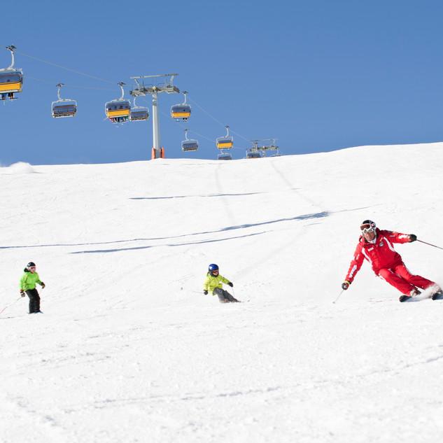 Skifahren am Watles
