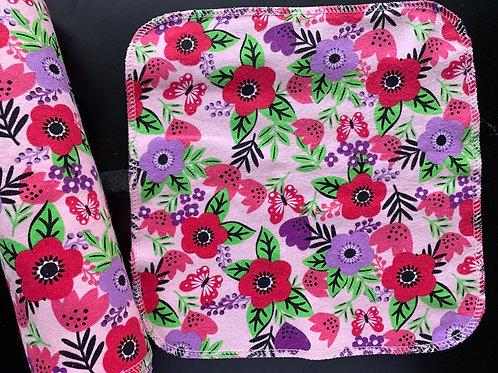 Reusable Unpaper Towels - spring flowers