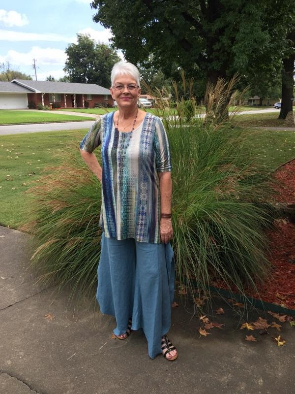 Turquoise tribal print dress tunic and turquoise pants