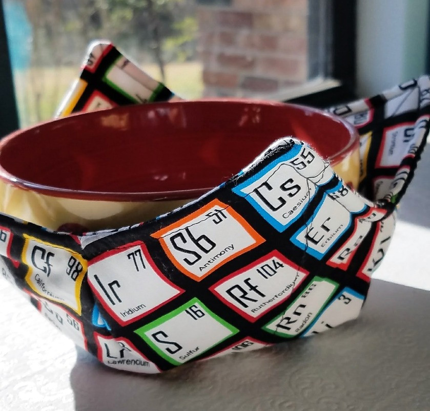 soup cozy in science fabric