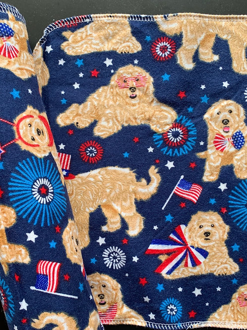 Reusable Unpaper Towels - Patriotic Pups