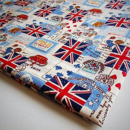 Union Jack cotton fabric from London