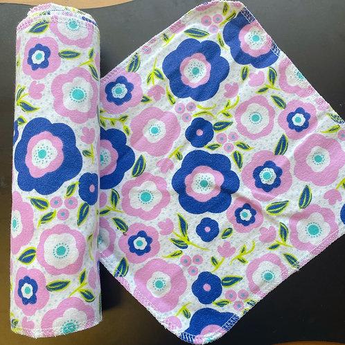 Reusable Unpaper Towels - Purple Flowers
